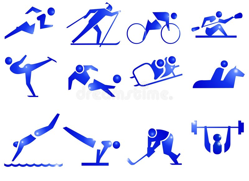 Download Sport Symbol Icons stock illustration. Image of active - 524089