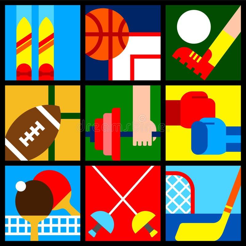 Sport symbols 1 stock photos