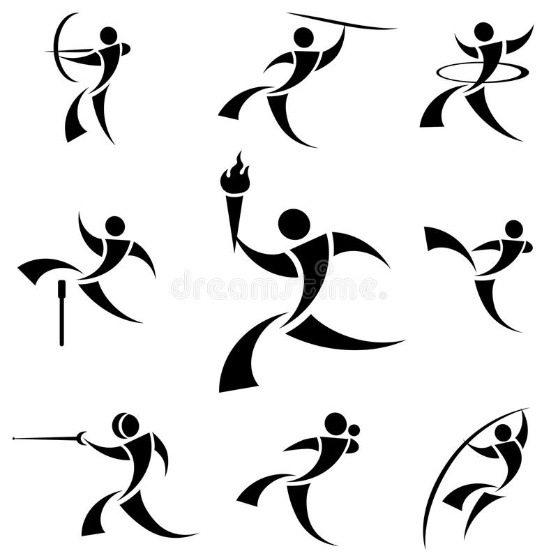 Sport Symbols Stock Vector Illustration Of Pole Graphic 9477177