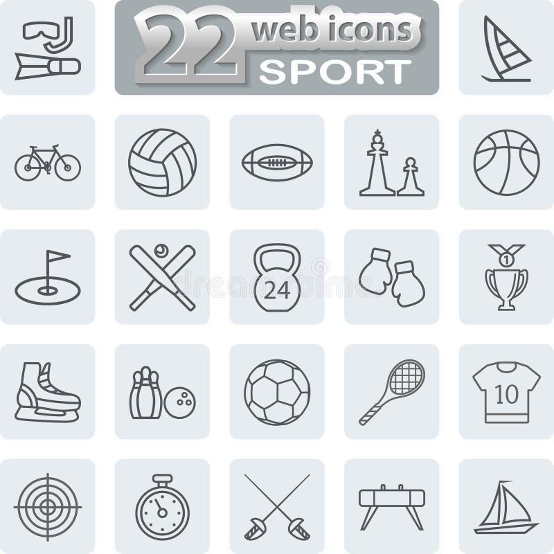 Sport Symbols Icons. Modern Web Collection on white background. Illustration vector illustration