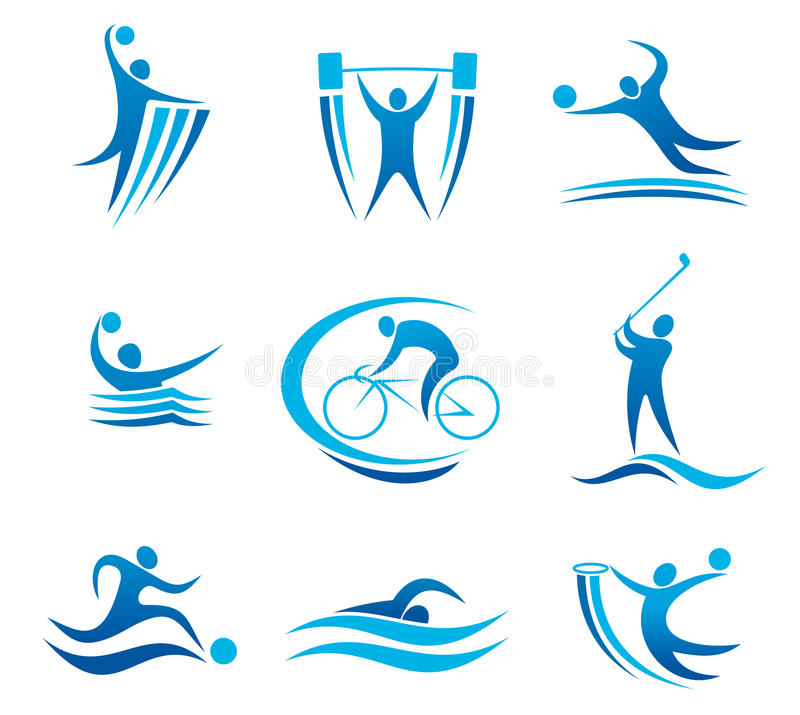 Sport symbols and pictograms vector illustration
