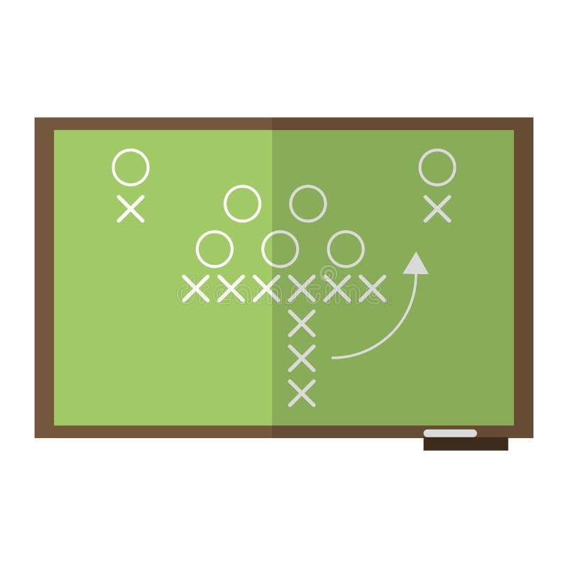 sport taktyk chalkboard futbol amerykański ilustracji