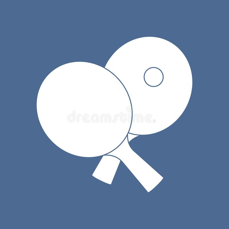 Sport Tischtennis Ping Pong Gesunder Lebensstil vektor abbildung