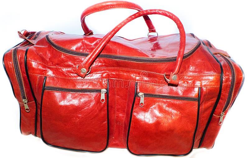Sport torby dla kobiety czerwieni nasycającej barwią wielbłąda fotografia royalty free