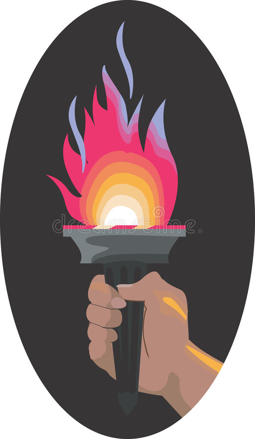 Download Sport torch stock illustration. Illustration of competition - 3566867