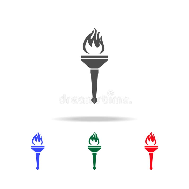 Sport torch icons. Elements of sport element in multi colored icons. Premium quality graphic design icon. Simple icon for. Websites, web design, mobile app vector illustration