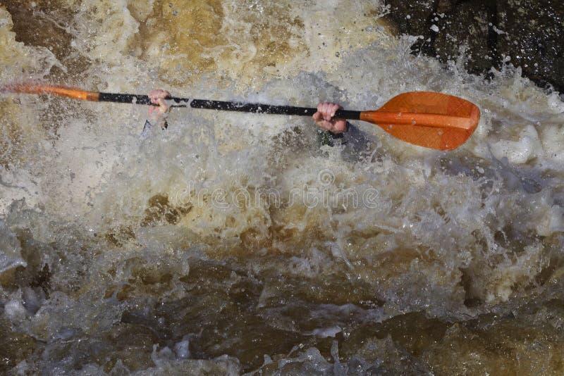 Sport: Trasportare di Whitewater fotografia stock