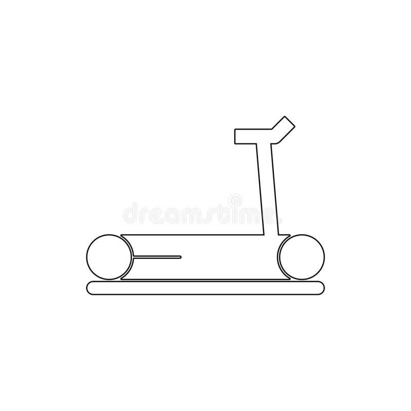 Sport treadmill outline icon. Signs and symbols can be used for web, logo, mobile app, UI, UX stock illustration