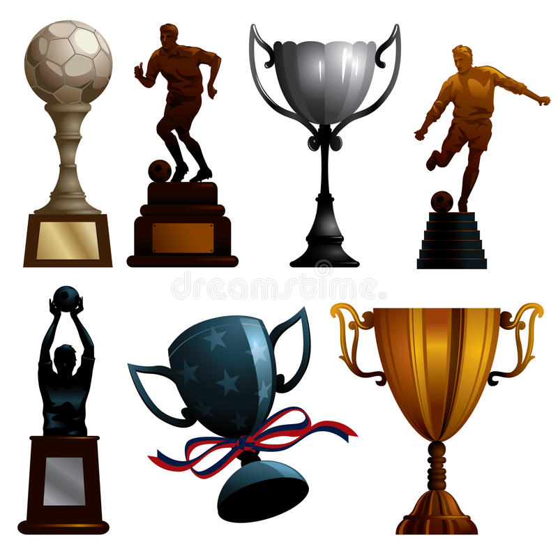 Download Sport Trophies stock vector. Image of design, celebrate - 13438227