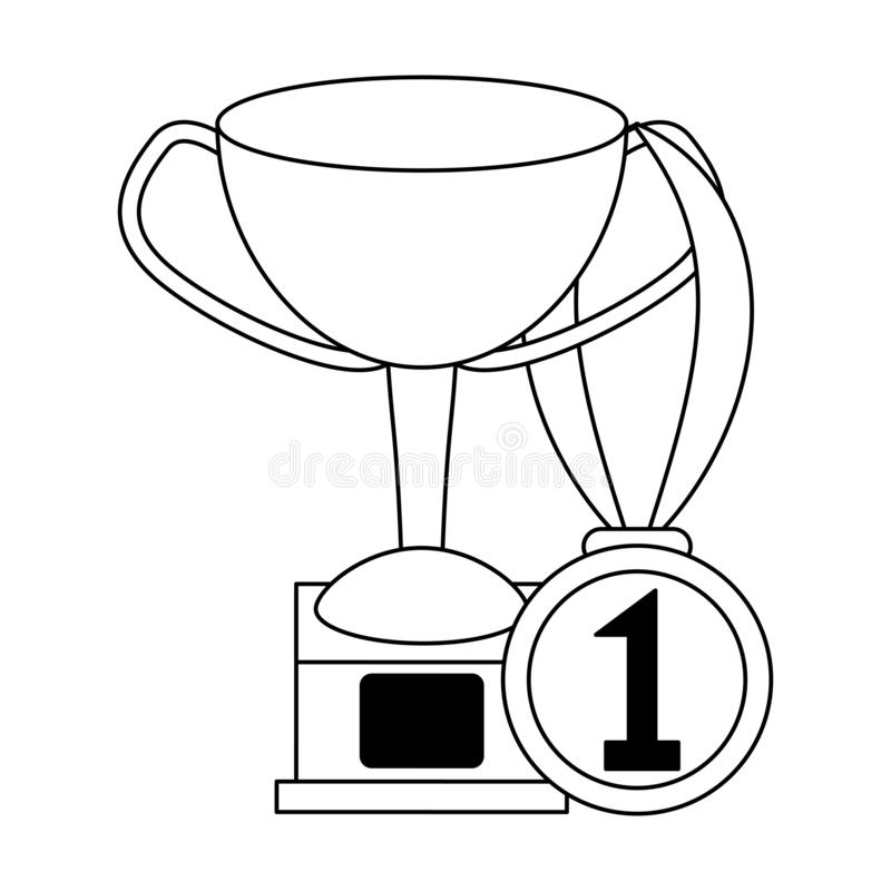 Medal first place isolated stock vector  Illustration of
