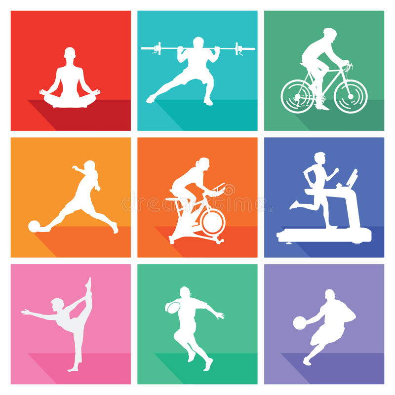 Sport und Eignung stock abbildung