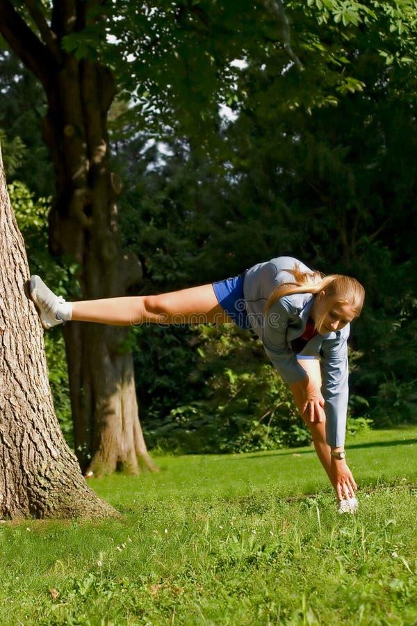 Sport und Frau stockfotos