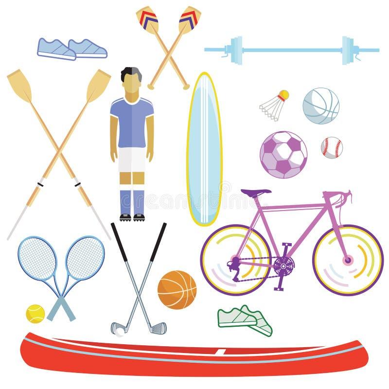 Sport und Freizeitillustration lizenzfreie abbildung