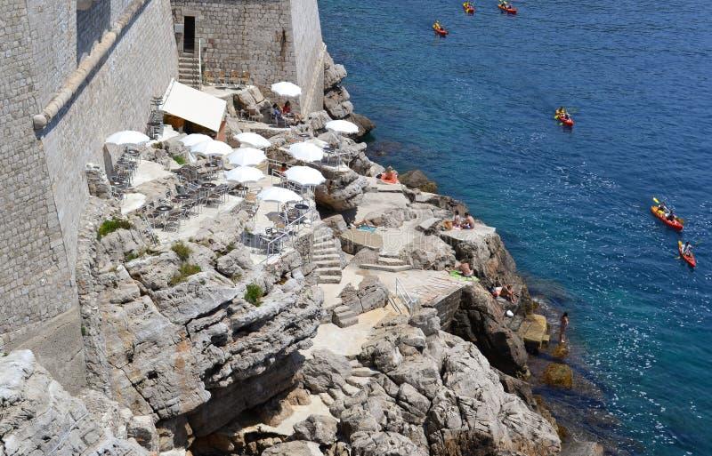 Sport und Geschichte (Dubrovnik, Kroatien) lizenzfreies stockbild