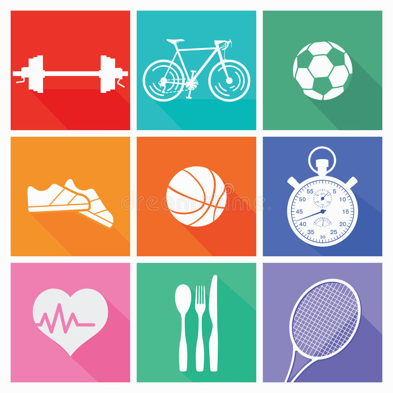 Sport und lederne Sammlung stock abbildung
