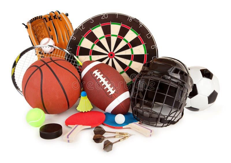 Sport Und Spiel-Anordnung Stockfoto