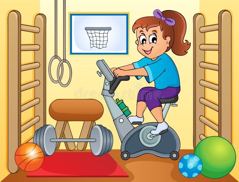 Sport und Turnhallenthemabild 2 lizenzfreie abbildung