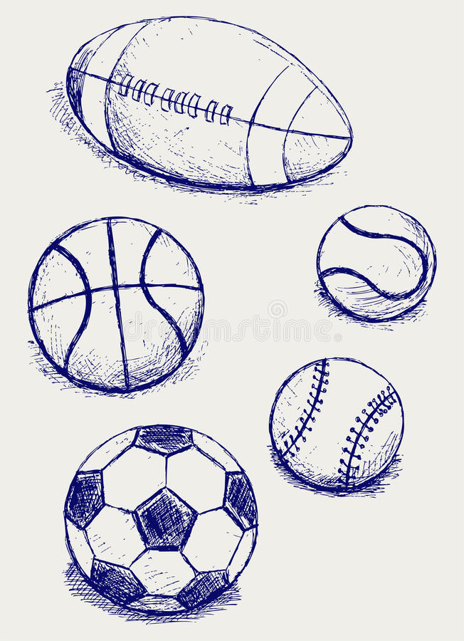 Sport ustalone piłki royalty ilustracja