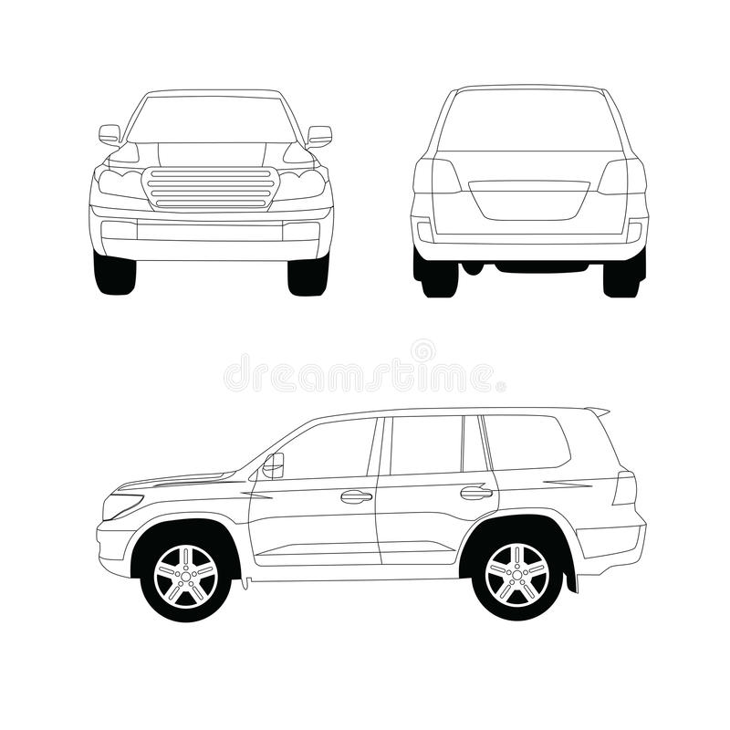 Download Sport utility vehicle stock vector. Image of separate - 25983592