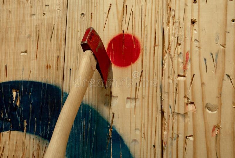 Sport van Bijl het Werpen stock afbeelding