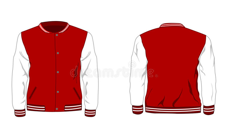 Sport varsity jacket royalty free stock photo