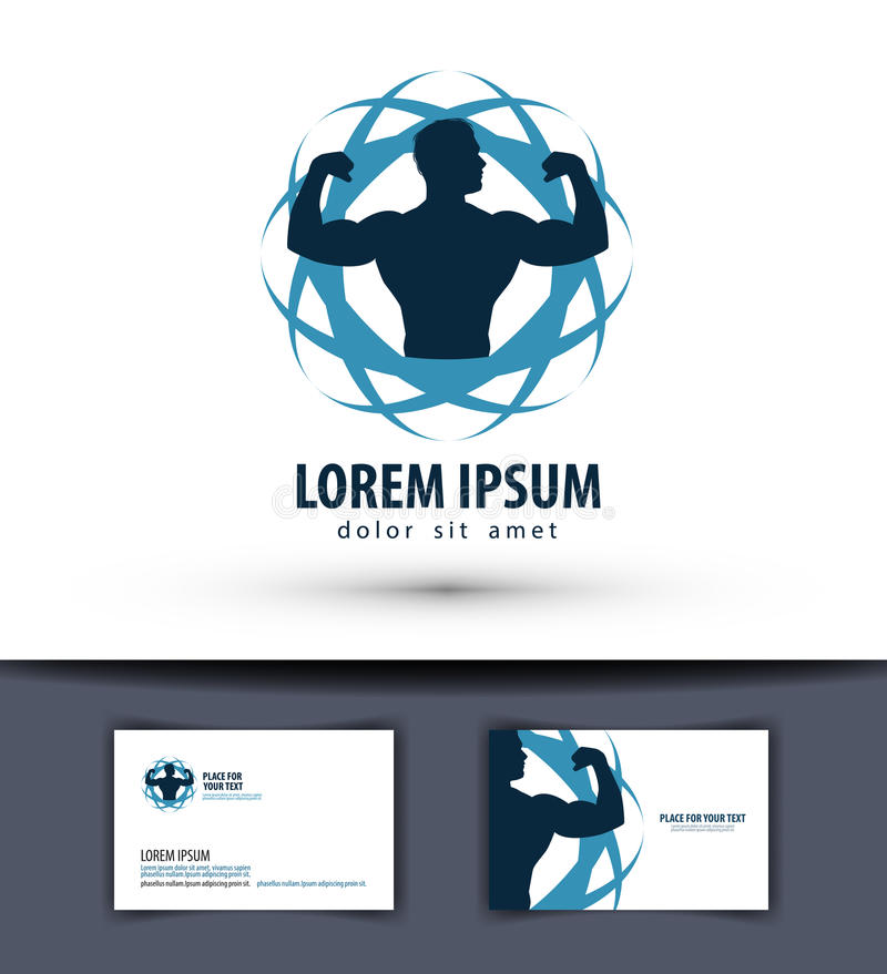 Sport vector logo design template. fitness or gym vector illustration