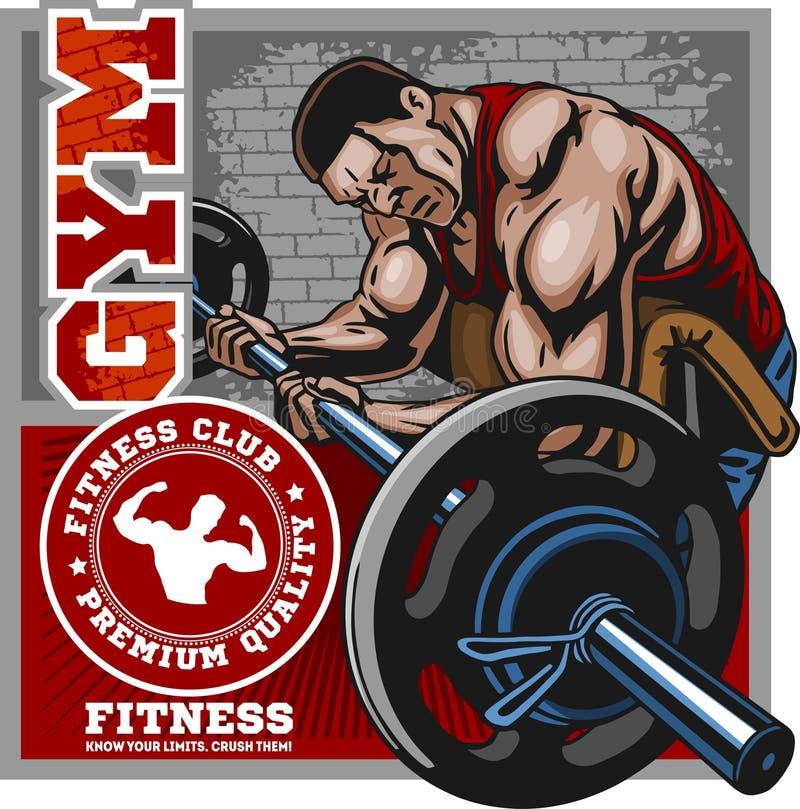 Sport-Verein Bodybuildinglogo-Emblemgestaltungselement Sportikonen und -elemente stock abbildung