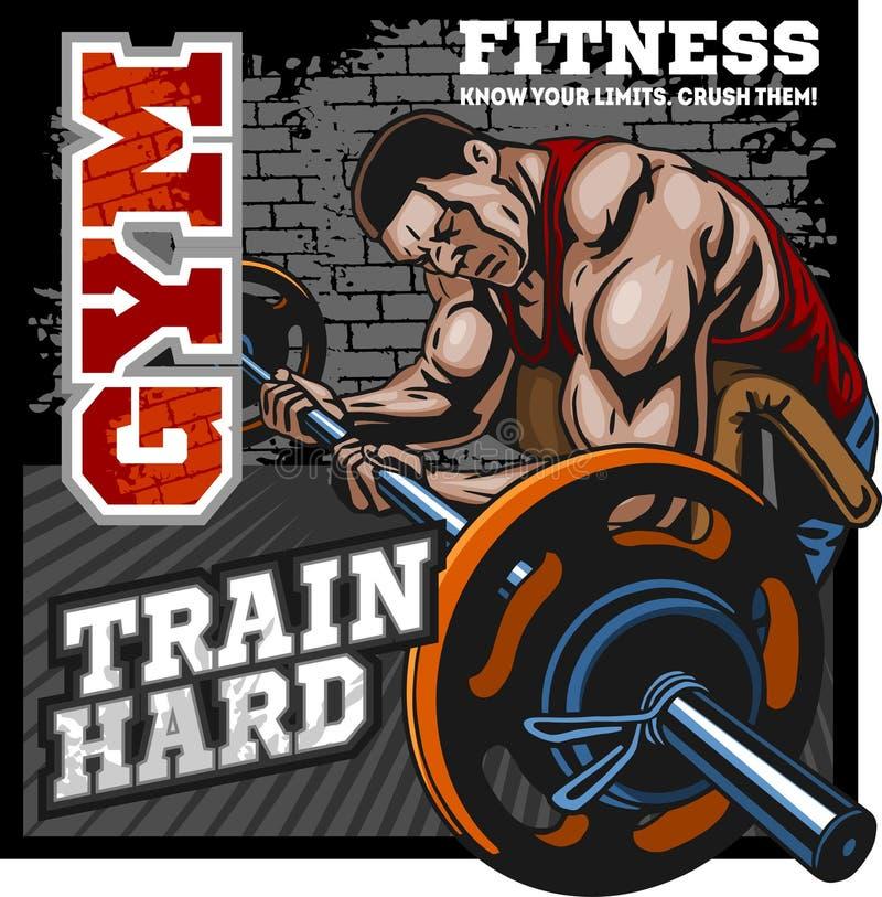 Sport-Verein Bodybuildinglogo-Emblemgestaltungselement Sportikonen und -elemente lizenzfreie abbildung