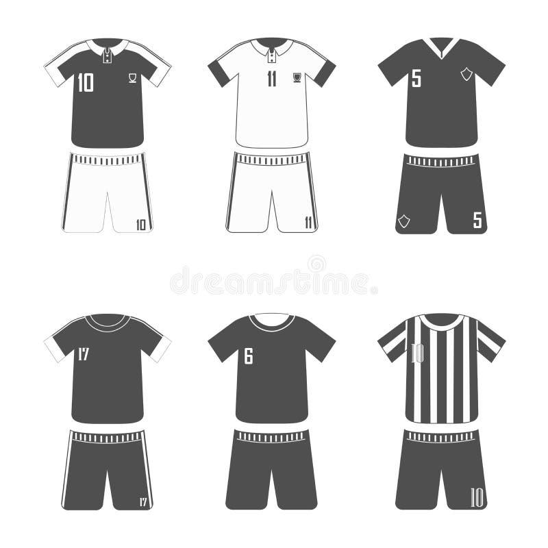 Sport-voetbal-eenvormige zwarte royalty-vrije illustratie