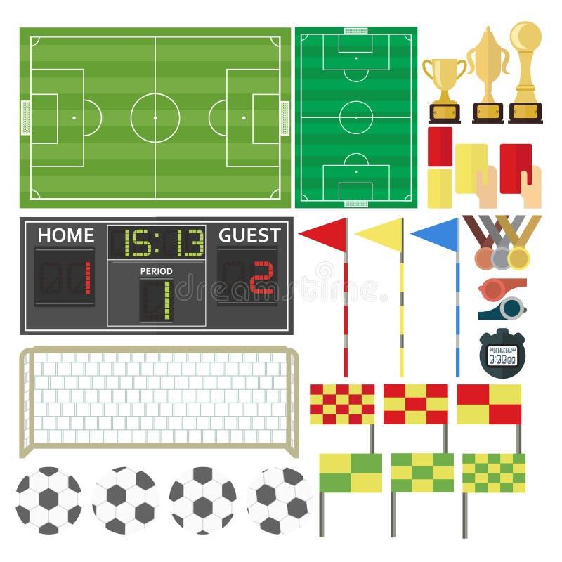 Sport-voetbal-materiaal stock illustratie