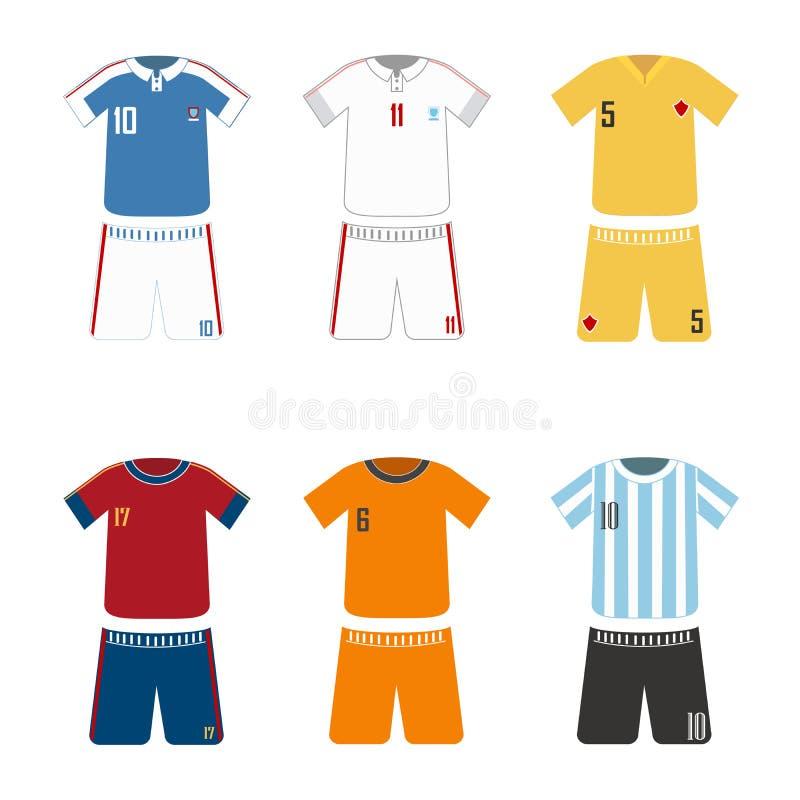 Sport-voetbal-uniform stock illustratie