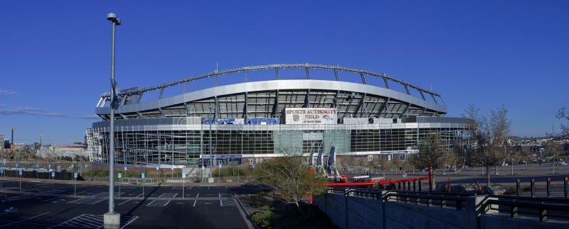 Sport władzy pole przy mile high stadium w Denver, obraz royalty free
