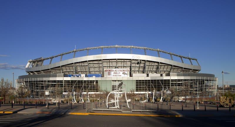 Sport władzy pole przy mile high stadium w Denver, obrazy royalty free