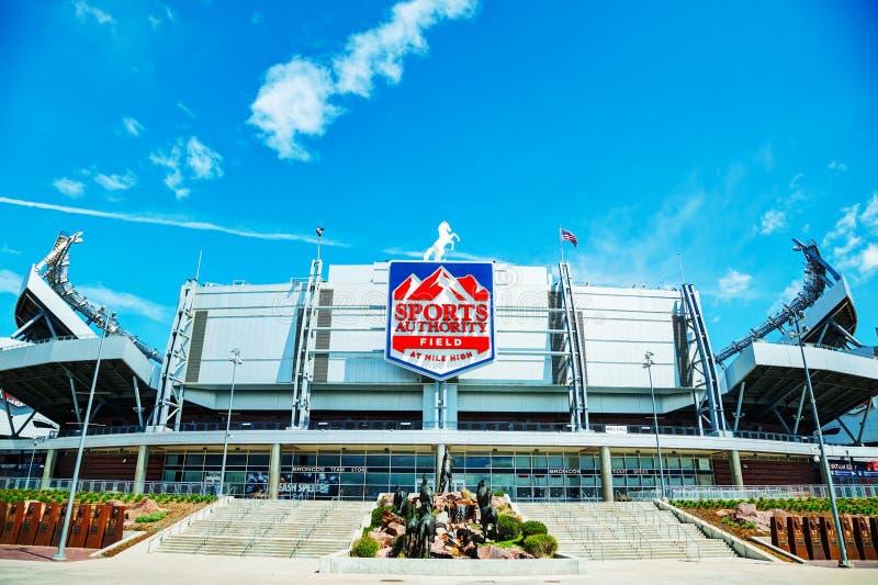 Sport władzy pole przy Milową wysokością w Denver obrazy royalty free