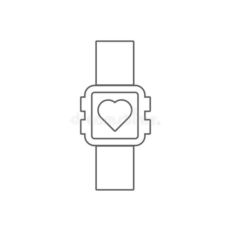 sport watch icon. Element of Sport for mobile concept and web apps icon. Outline, thin line icon for website design and royalty free illustration