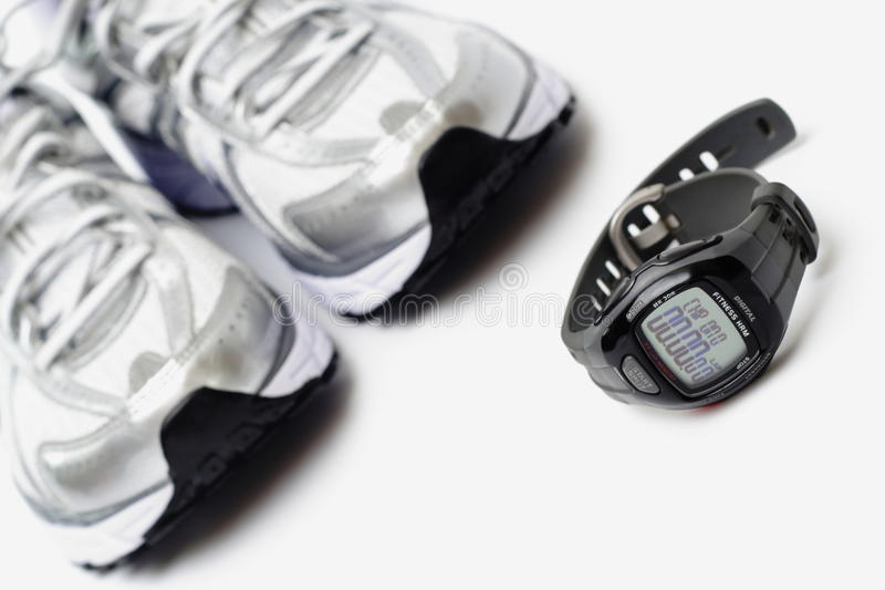Download Sport Watch And Running Shoes Stock Photo - Image: 12700588