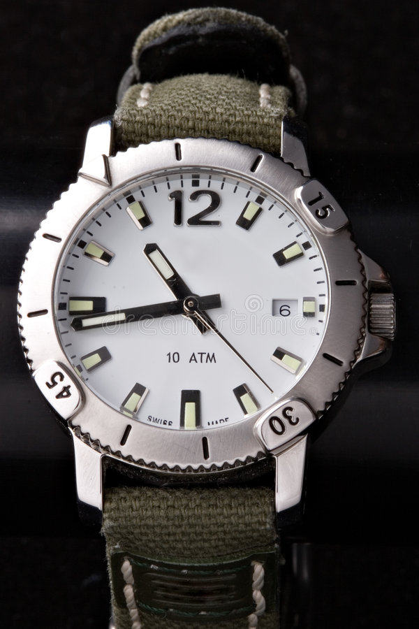 Free Sport Watches On Black Stock Photo - 1628020