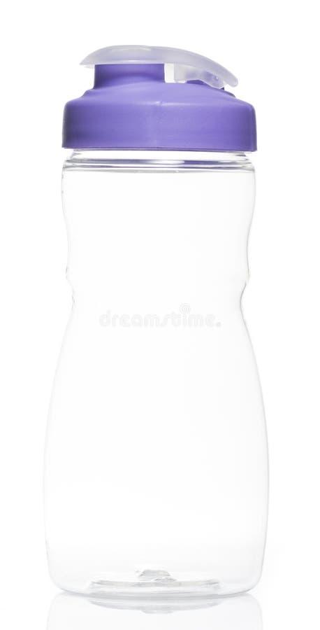 Sport Water bottle. Empty Purple Sport Water bottle on White background royalty free stock photo