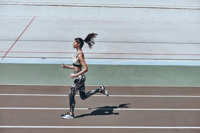 Sport is the way of his life. royalty free stock photo