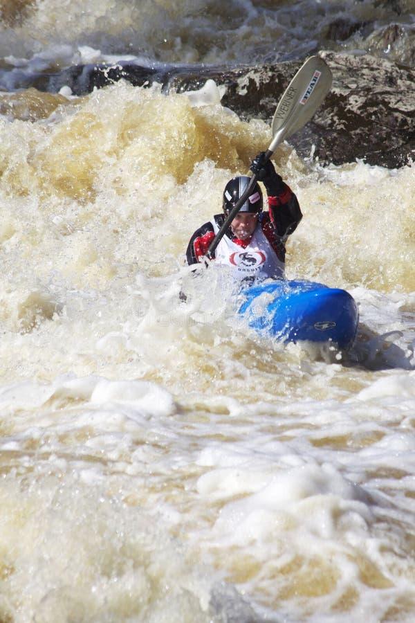 Sport: Whitewater Flößen stockbild