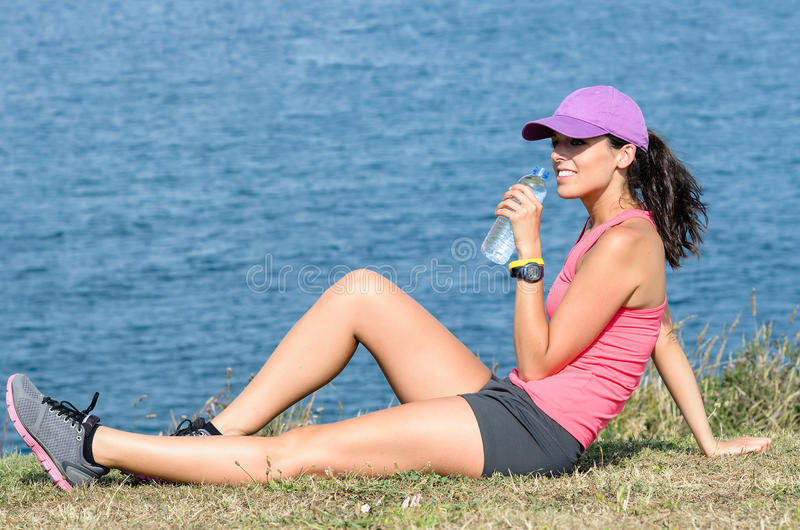 Download Sport Woman Drinking Water Royalty Free Stock Photography - Image: 26255637