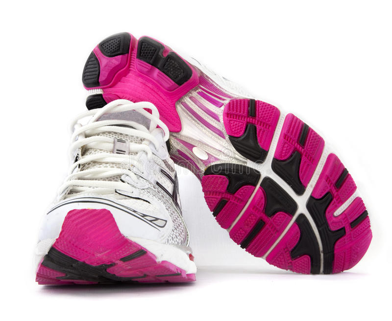 Sport woman shoes. On the white background royalty free stock photo