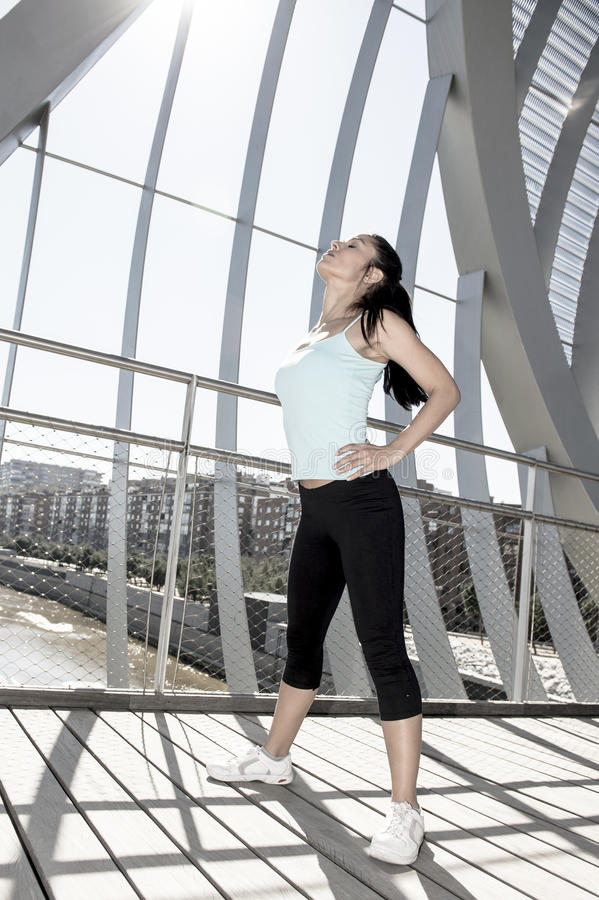 Free Sport Woman Tired And Exhausted Breathing And Cooling Down After Running Stock Photos - 88737813