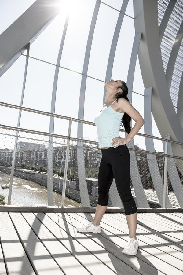 Free Sport Woman Tired And Exhausted Breathing And Cooling Down After Running Stock Images - 88737824