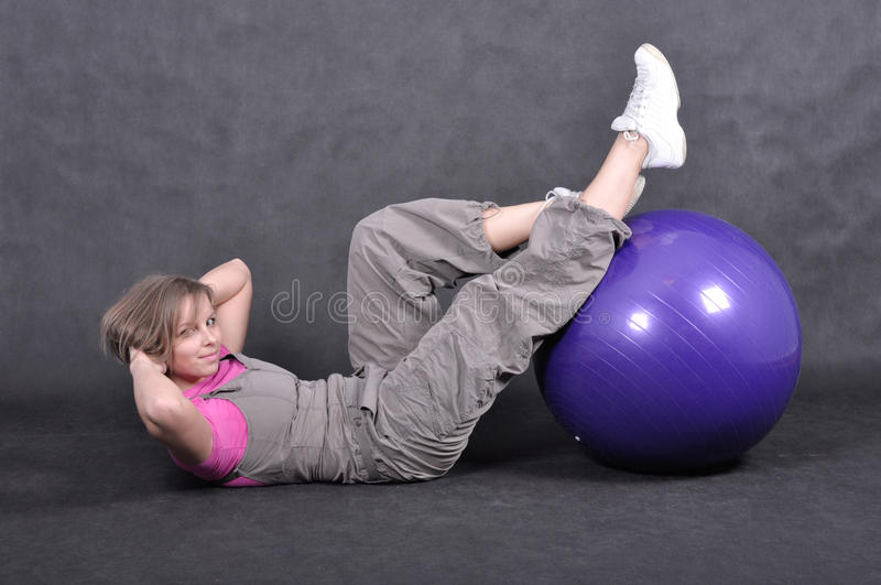 Sport young woman royalty free stock photography
