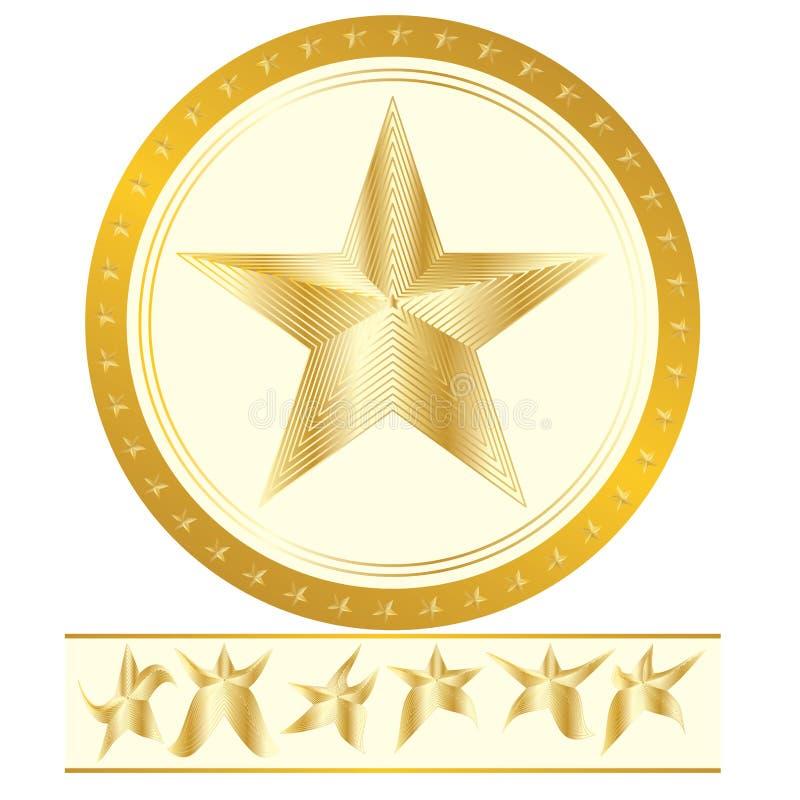 Sport złota gwiazda royalty ilustracja