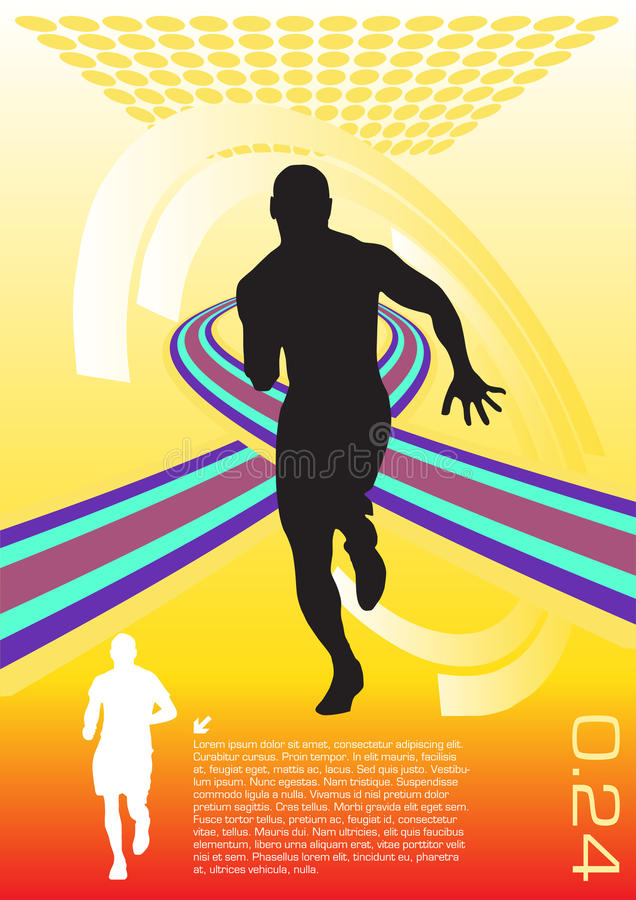 sporta abstrakcjonistyczny wektor royalty ilustracja