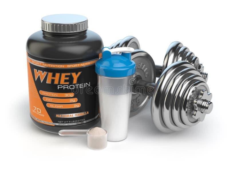 Sporta bodybuilding odżywianie lub nadprogramy Sprawność fizyczna lub zdrowie royalty ilustracja