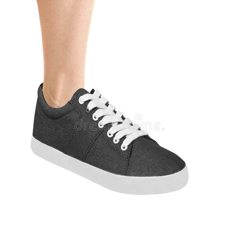 Sporta but dla biegać odizolowywam na bielu fotografia stock
