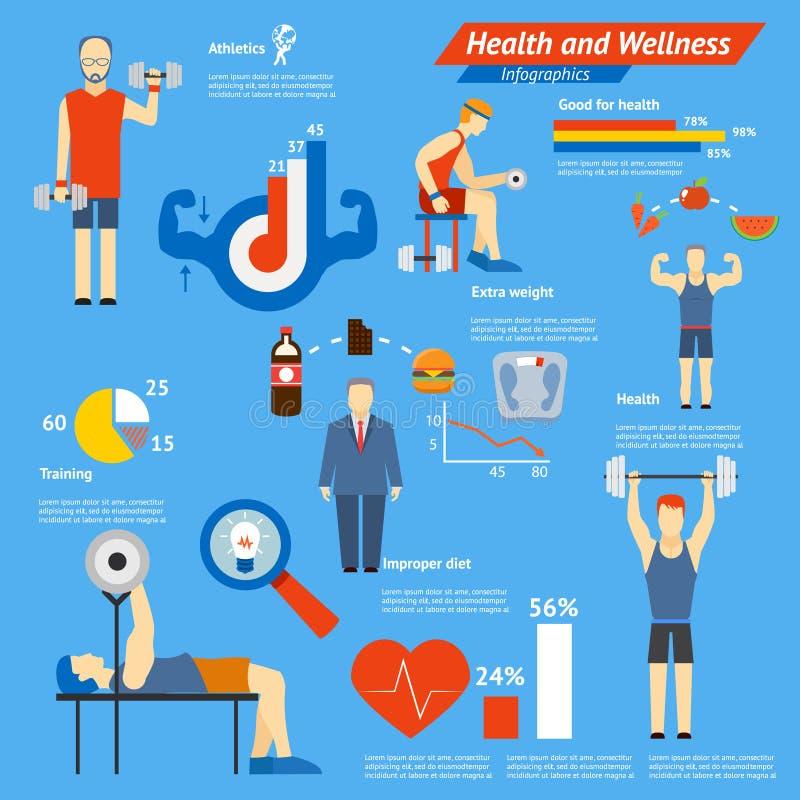 Sporta i sprawności fizycznej infographics royalty ilustracja